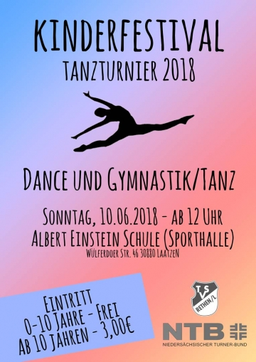 Kindertanzturnier in der Laatzener Albert Einstein Sporthalle am 10. Juni 2018