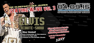 """Elvis lebt...!""Auf der Oldieparty ""Staying Alive vol. 3"" in Lenne"